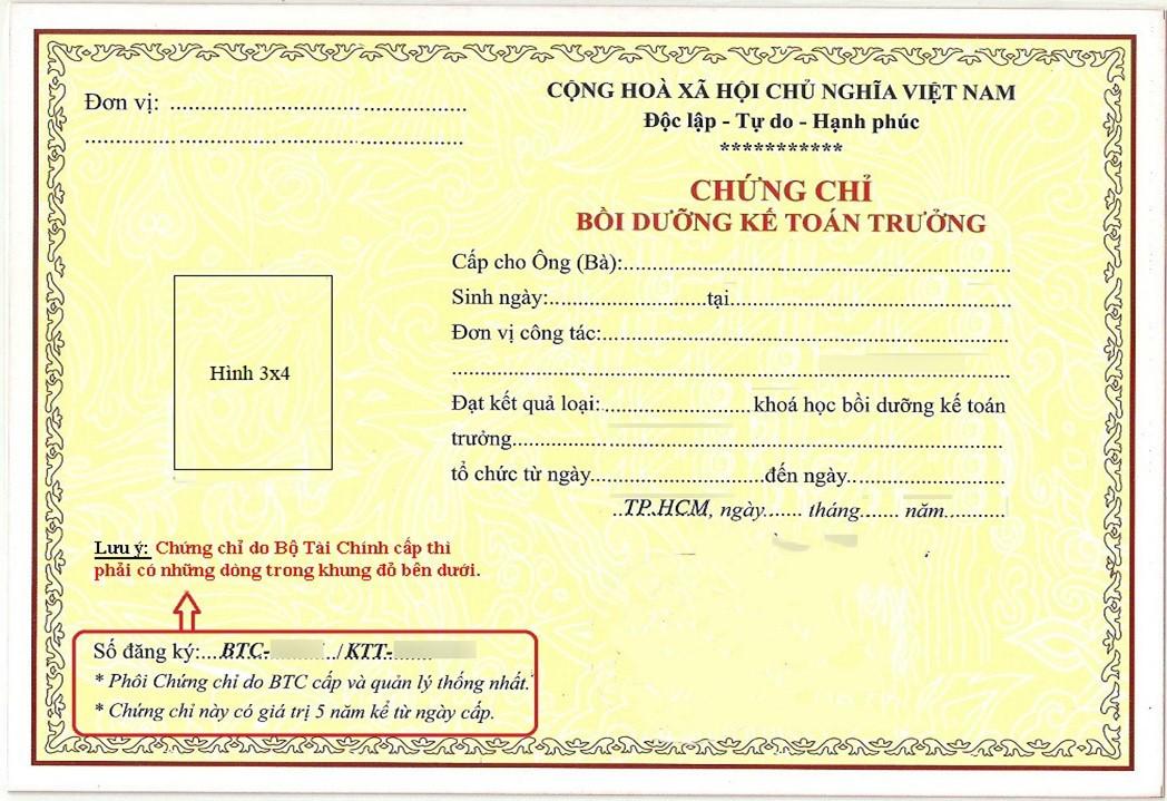 hoc chung chi ke toan truong